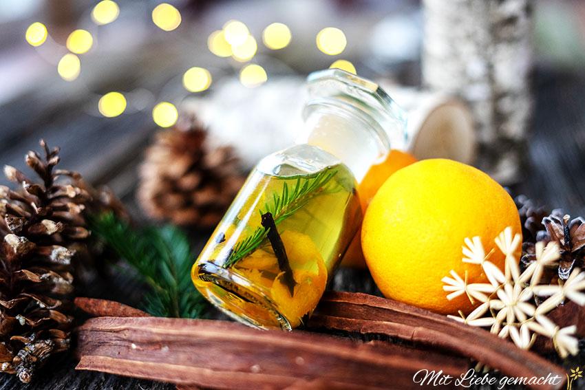 Winterzauberöl DIY von Mit Liebe handgemacht: Körperöl für gepflegte Haut