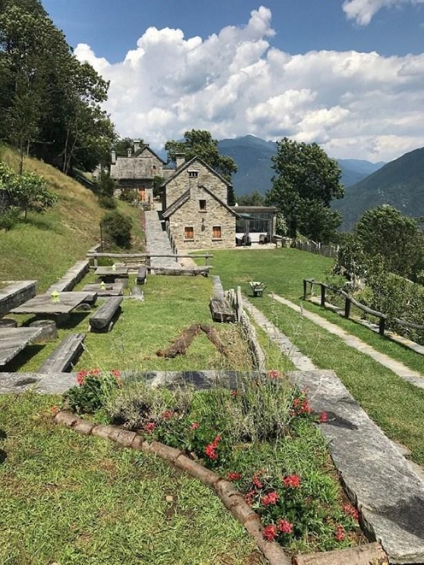 La Tensa Terrace overlooking Ossola Valey Slow Food Northern Piedmont