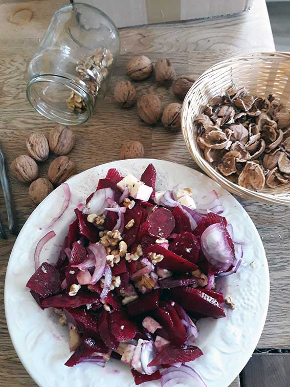 Rezept Rohkostsalat mit Walnüssen