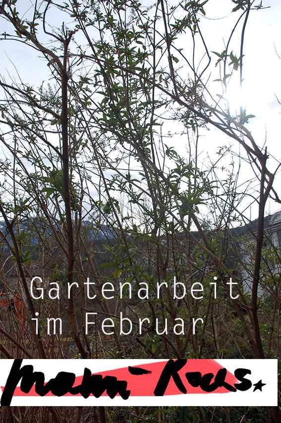 Gartenarbeit im Februar