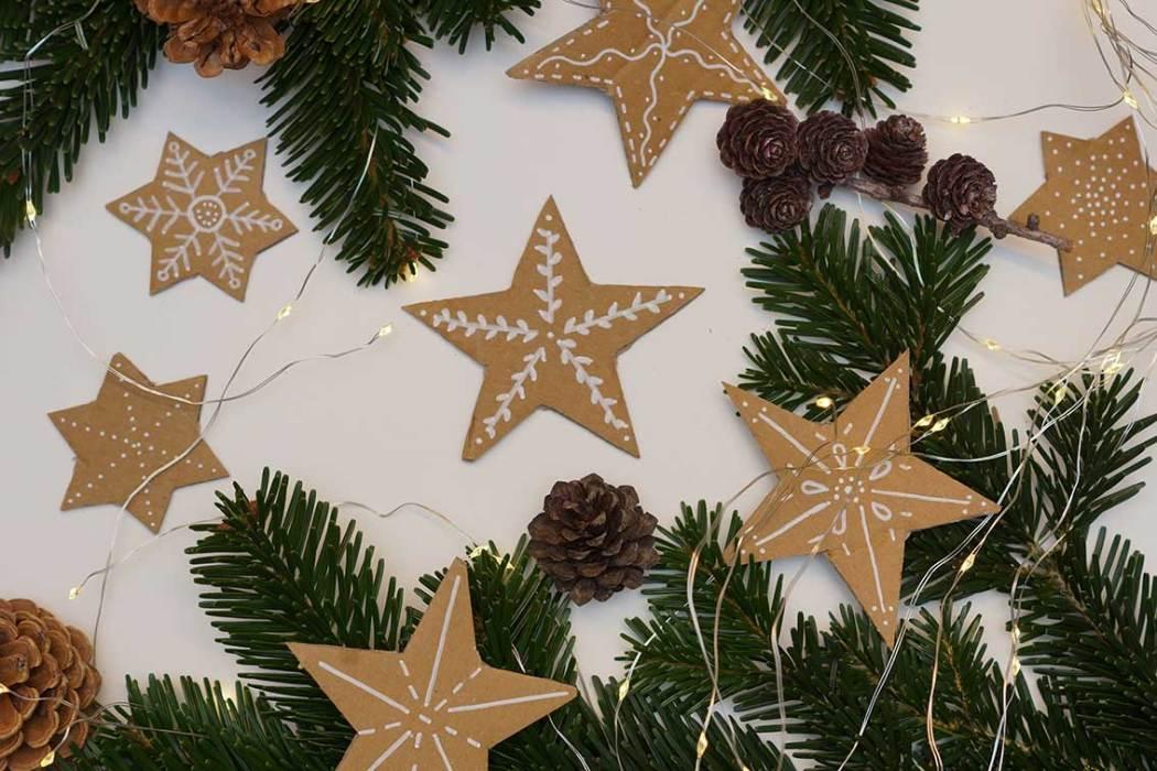 Upcycling Weihnachtssterne aus Karton
