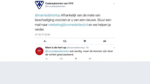 Uiterst vriendelijke mail van VVV Nederland