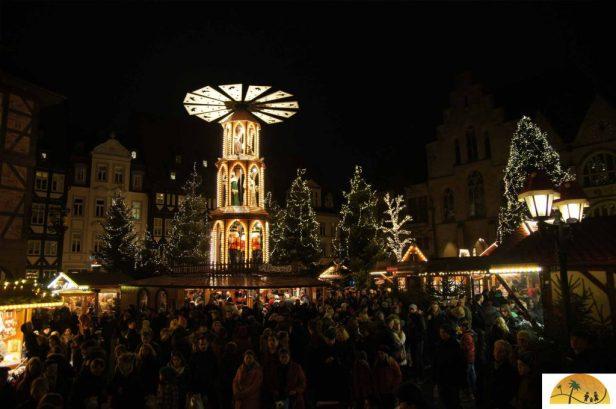 een van de kerstmarkten in Hildesheim