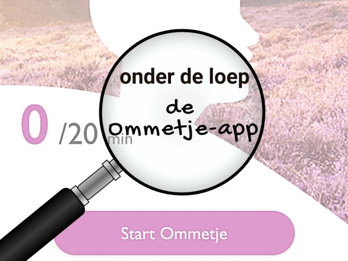 Onder de loep de Ommetje-app