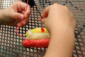Play dough hot dog circuit