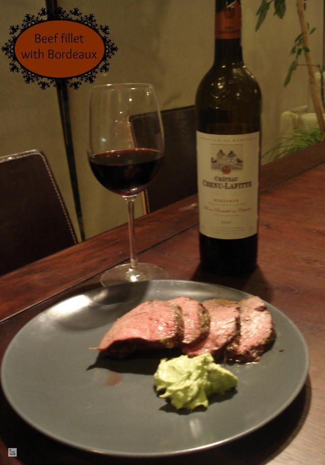 Beef fillet and Bordeaux wine
