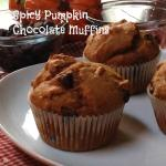 Spicy Somethin' Pumpkin Chocolate Muffins