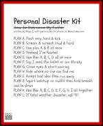 Personal Disaster Kit