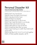 Personal Disaster Kit