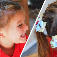 Back to School Hairstyle: Half Braided Pigtails