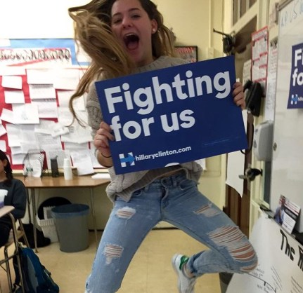 Megan Mulaney '16, a student in AP Government and Politics