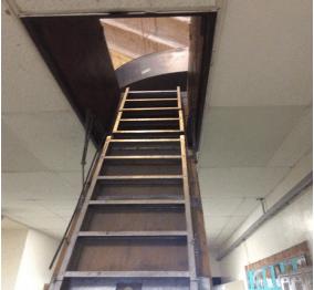 The attic ladder