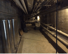 Piping in the basement