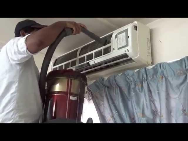 تنظيف فلتر المكيف الشباك