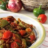 Peperonata con zucchine, melanzane e cipolla rossa di Tropea