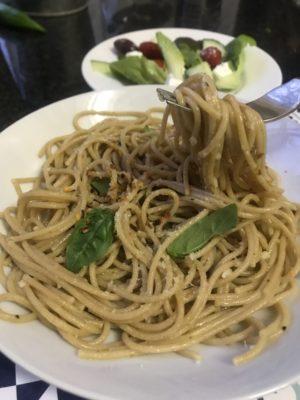 spaghetti aglio e olio meat free monday mammachefjozi