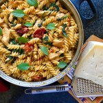 roasted red pepper pasta chicken mammachefjozi recipe