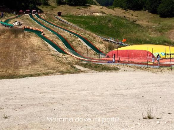 Scivoli Gommoni e BigAirBag Coppo dell'Orso a Roccaraso - Montagna con bambini Abruzzo