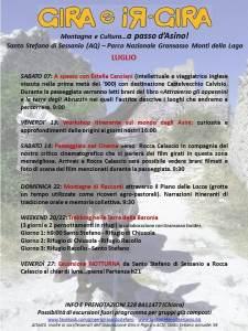 Eventi estivi Gira e Rigira - Luglio - Santo Stefano di Sessanio - L'Aquila
