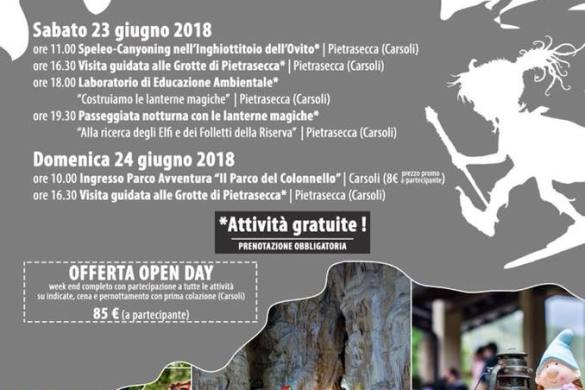 Grotte Borghi Folletti e Parchi Avventura - Pietrasecca - Carsoli - L'Aquila