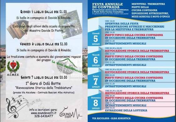 Festa Annuale di Contrada - Alba Adriatica - Teramo - Sagre in Abruzzo
