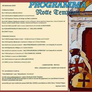 Notte Templare Programma - Eventi per famiglie Pratola Peligna AQ