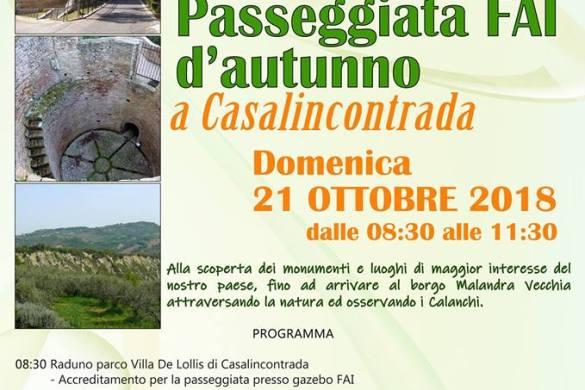 Passeggiata-FAI-dautunno-Casalincontrada-CH- Eventi per bambini Chieti