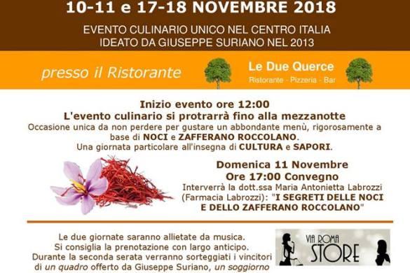 Sagra delle Noci 2018 Roccaspinalveti CH - Feste d'autunno Abruzzo