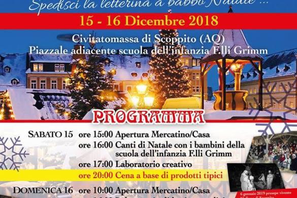 La-Casa-e-il-Mercatino-di-Babbo-Natale-Civitatomassa-di-Scoppito-AQ- Cosa fare a Natale con i bambini in Abruzzo