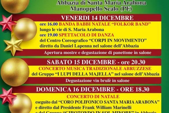 Natale-in-Abbazia-Santa-Maria-Arabona-Manopello-Pescara - Cosa fare a Natale con i bambini in Abruzzo