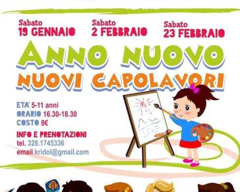 Laboratorio-di-pittura-Punto-Felice-Pescara - Eventi per bambini in Abruzzo weekend 19-20 gennaio
