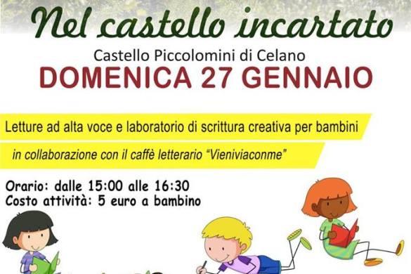 Letture-e-laboratorio-per-bambini-Castello-Piccolomini-Celano-L'Aquila - Eventi per bambini in Abruzzo weekend 25-27 gennaio 2019