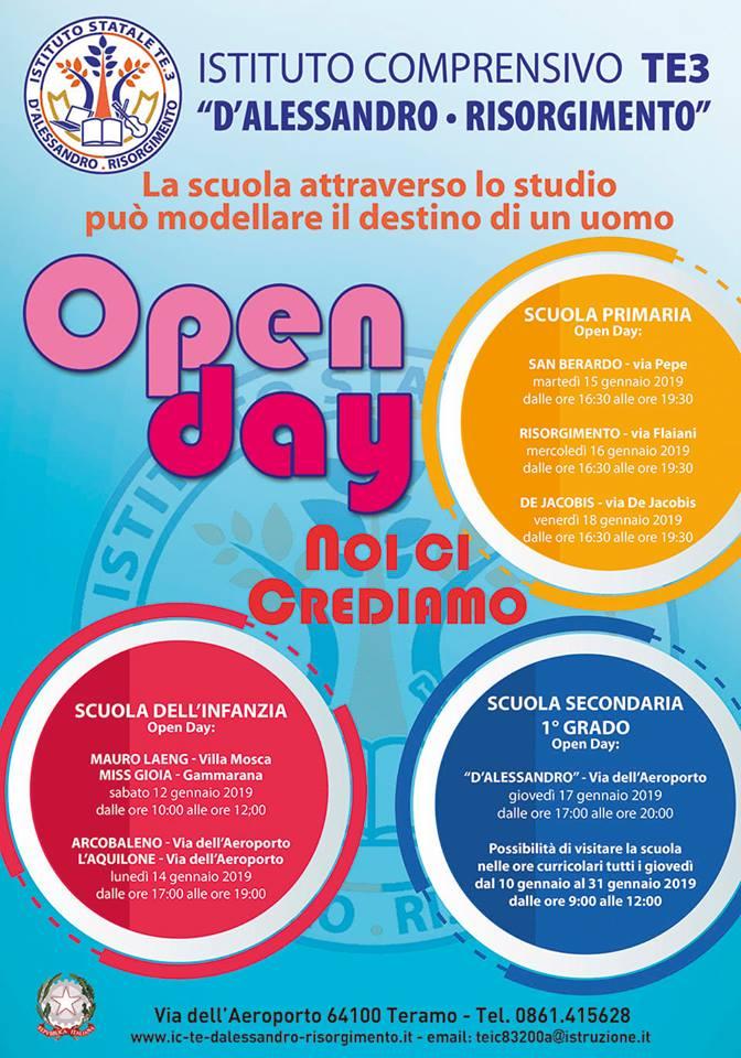 Open Day Scuole Teramo - Istituto Comprensivo D'Alessandro - Risorgimento