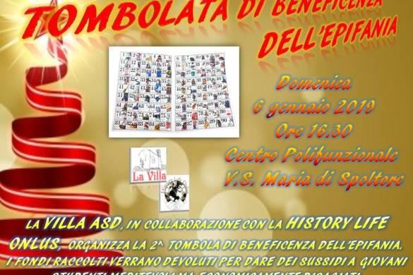Tombolata-di-beneficenza-Villa-Santa-Maria-di-Spoltore-Pescara - Befana 2019 in Abruzzo