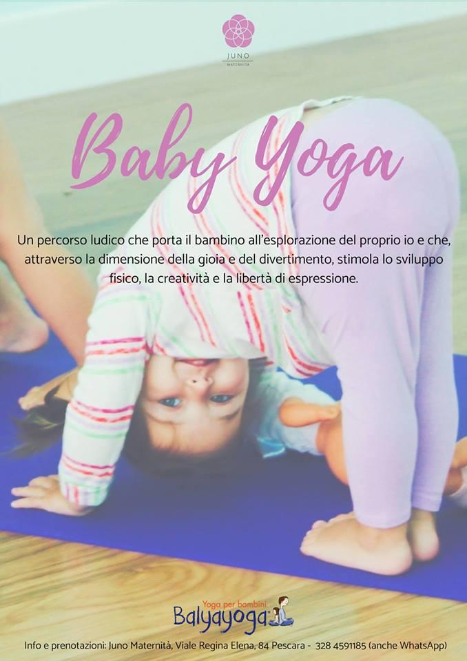 Corso di Baby Yoga di Juno Maternità a Pescara