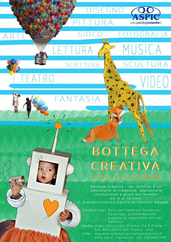 Bottega creativa for Children Federica Fornaciari San Benedetto del Tronto