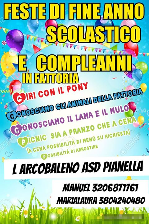 Feste di Fine Anno Scolastico L'Arcobaleno Asd Pianella a Pianella di Pescara