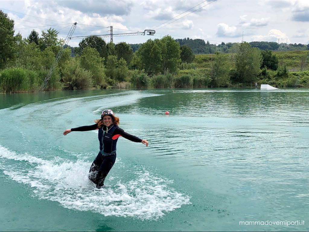 Anna istruttrice Lago Hot Lake Cable a Park Manoppello di Pescara