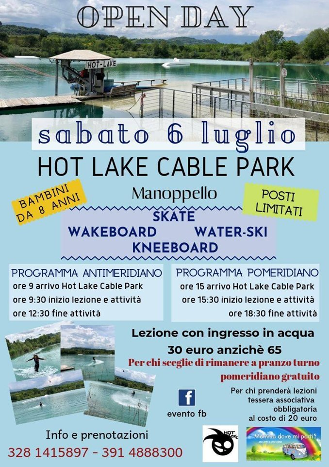 Open Day Hot Lake Cable Park a Manoppello di Pescara