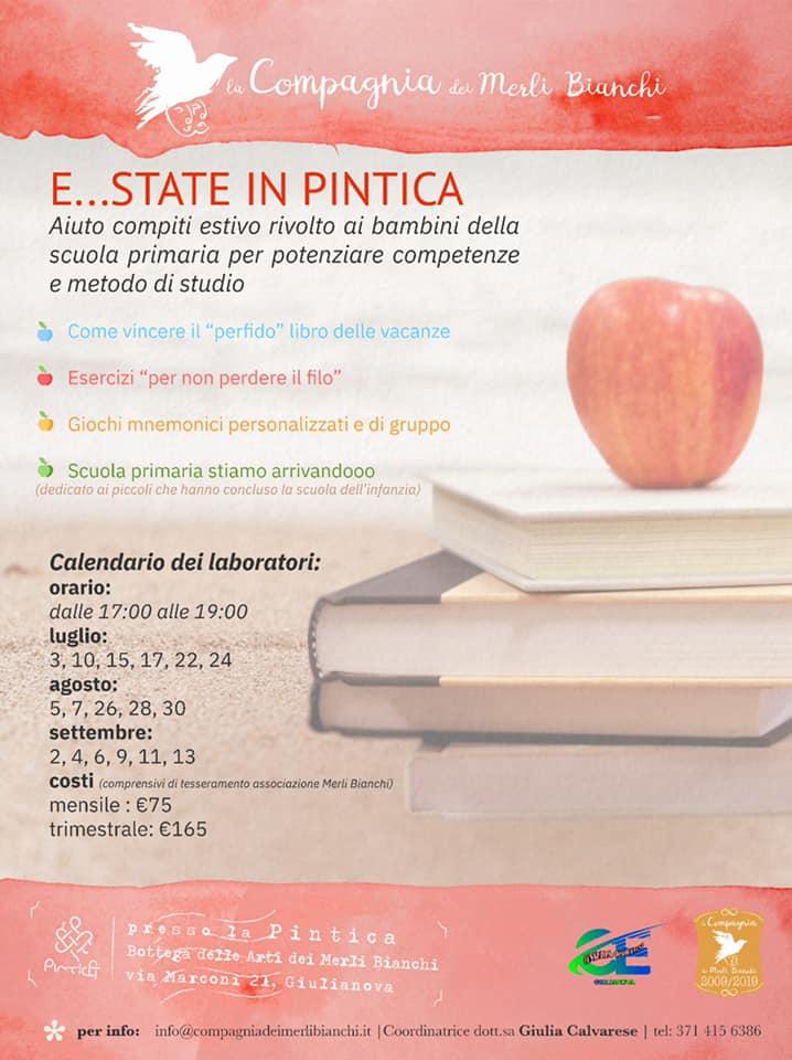 Estate in Pintìca: laboratorio estivo di aiuto compiti