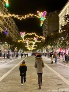 Luci d'artista Luminarie Natale a Pescara 2019 - Corso Umberto I