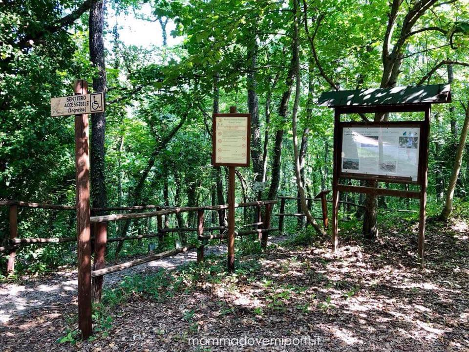 Ingresso Riserva Naturale Castel Cerreto