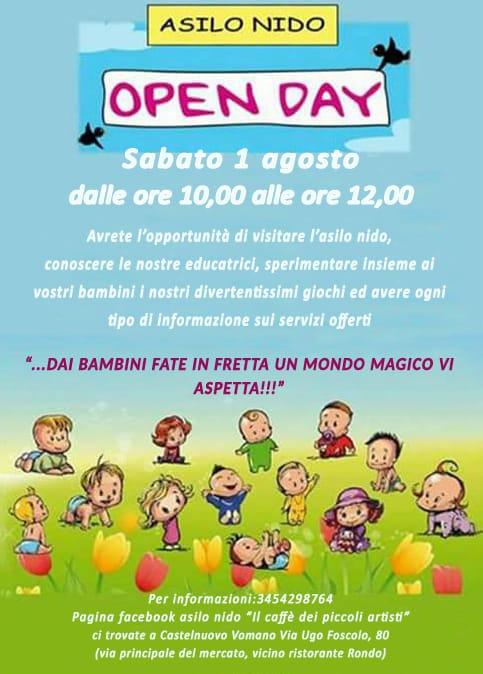 Open Day all'Asilo Nido Il Caffè dei Piccoli Artisti di Castelnuovo Vomano di Teramo