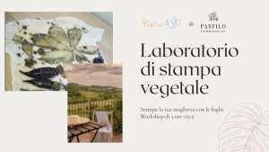 Laboratorio di stampa vegetale a Cellino Attanasio a cura di Sogni di Cinzia e Naturiamo
