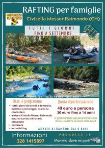 Rafting per famiglie a Civitella Messer Raimondo di Chieti