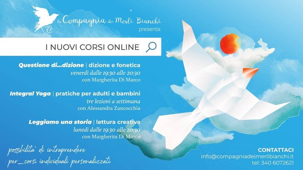 Compagnia dei Merli Bianchi- corsi on line di dizione, yoga e lettura creativa