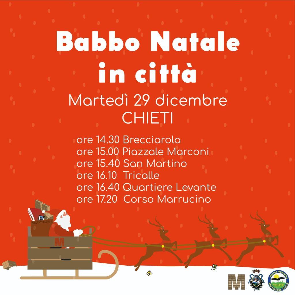 Babbo Natale in città a Chieti