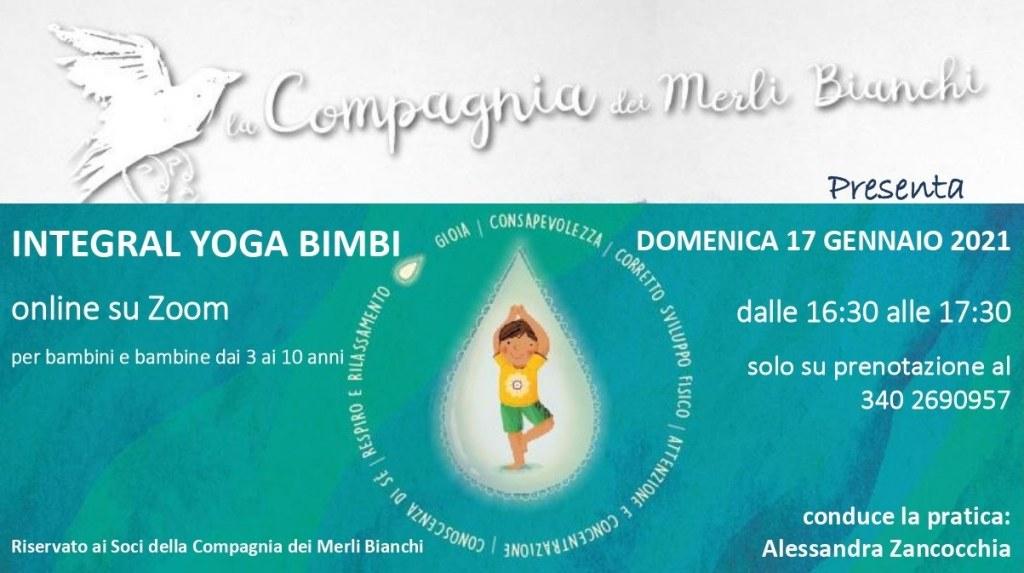 Lezioni di Integral Yoga Bimbi online