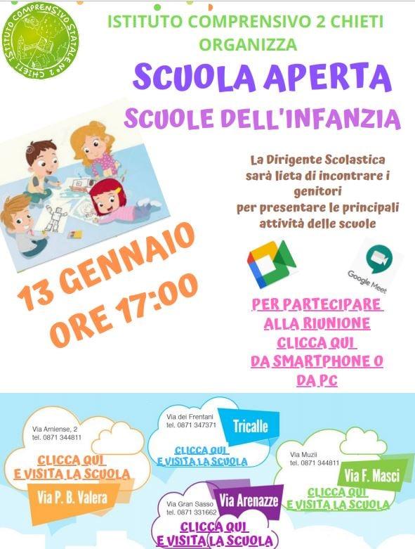 Open Day 2021 Scuole di Chieti Infanzia Istituto Comprensivo Chieti 2