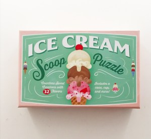 Ice cream scoop puzzle box
